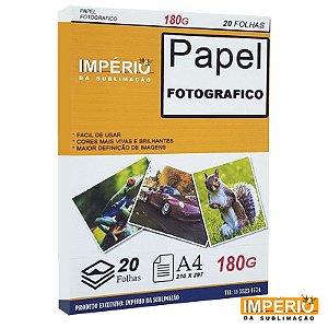 PAPEL FOTOGRAFICO 180G 20 FOLHAS