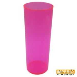 Copo Long Drink Neon Rosa