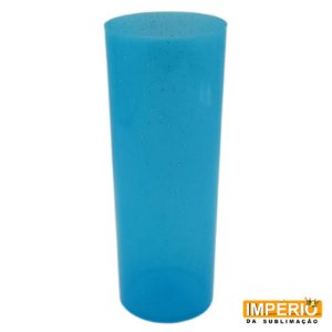 Copo Long Drink Glitter Azul