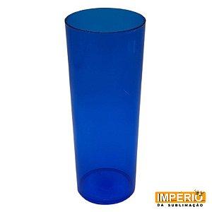 Copo Long Drink Translúcido Azul Bic
