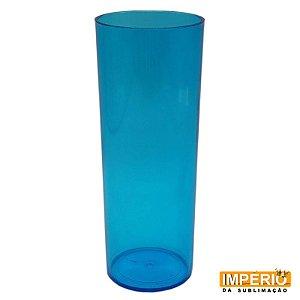 Copo Long Drink Translúcido Azul Anil