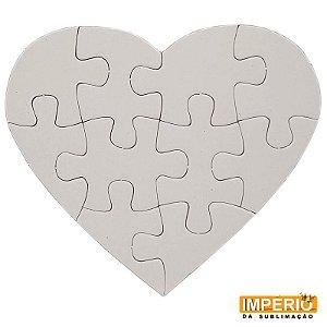 Quebra cabeça coração 10 peças brilhante para sublimação 5 unidades