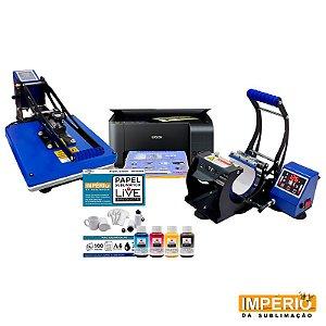 Kit prensa plana 38x38 live touch screen