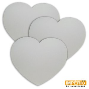 Mouse pad latex coração com uma unidade