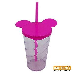 Copo mickey cristal rosa