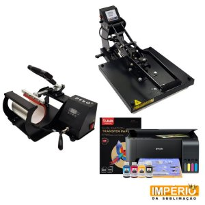 Kit prensa plana 38x38 deko semi automatico