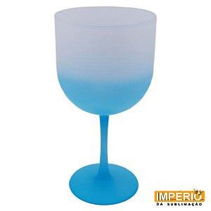 Taça gin degradê fosca Azul