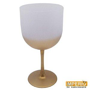 Taça gin degradê fosca dourada