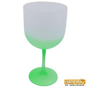 Taça de gin fosca verde