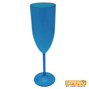 Taça acrílica azul transparente