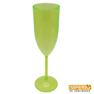 Taça acrílica verde neon