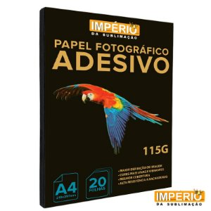 Papel Fotográfico Adesivo 115g Império 20 folhas