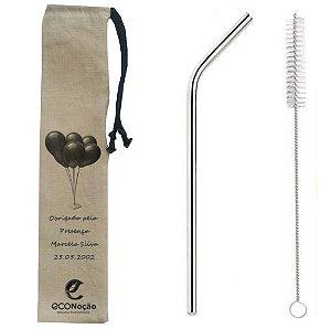 100 Kits  Aniversário  6mm Curvos+escova+bag personalizada
