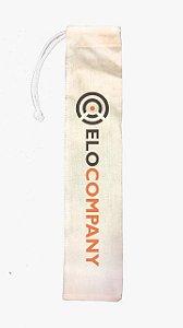 kit 100 canudos 6,00mm curvo personalizado + 100 escovas de higienização + 100 bags personalizadas 2 cores