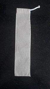DUPLICADO - Kit Atacado 950 Canudos Aço Inox 6mm reto 21cm + 950 Bags tecidos algodão cru