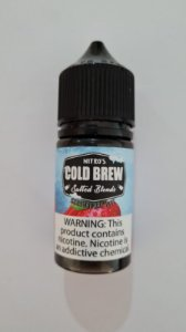 LÍQUIDO NIC SALT STRAWBERRY ICE - COLD BREW