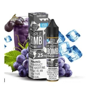 LÍQUIDO BOMB IN YOUR FACE GRAPE NIC SALT ICED - VGOD