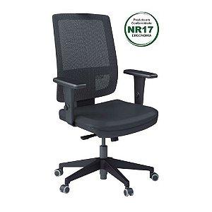 Cadeira Presidente encosto em tela com braços reguláveis - Briza tela