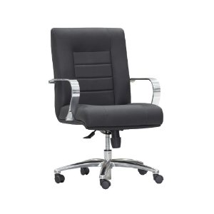 Cadeira Diretor Estofada Base Cromada New Onix Class
