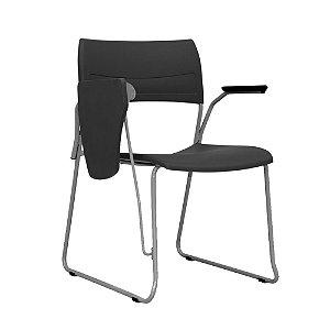 Cadeira universitária empilhavel prancheta escamoteável