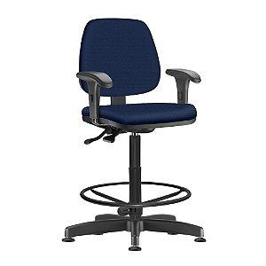 Cadeira Caixa Estofada Com Braços Regáveis