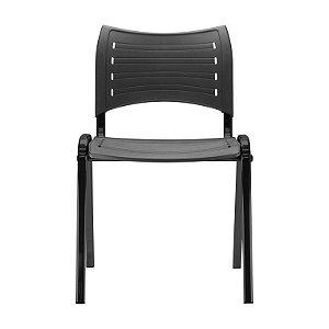Cadeira iso fixa na cor preta