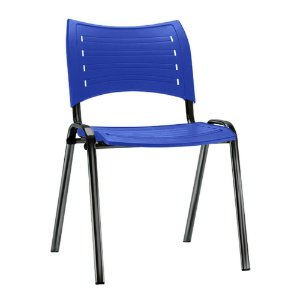 Cadeira Iso Fixa 04 Pés Em Polipropileno Azul