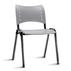 Cadeira Iso Fixa Em Polipropileno Cor Cinza