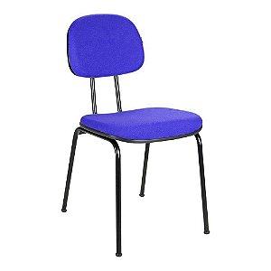 Cadeira Fixa 04 Pés Palito na Cor Azul