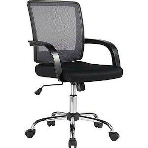 Cadeira Secretária Executiva Encosto em tela base cromada