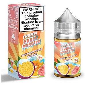 Líquido Nicsalt - Passionfruit Orange Guava Ice Frozen Fruit Monster - 30ml