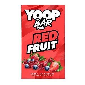Pod Refil Yoop - 4 refil - Red Fruit  -5%