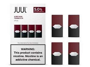Pod Refil Juul - 4 refil - Virgínia tobacco - 5%