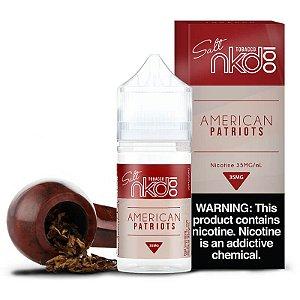 Líquido Nic Salt Naked 100 Salt Nicotine - American Patriots - 30ml
