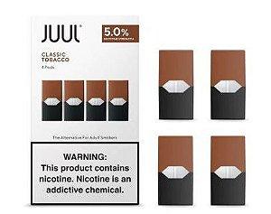 Pod Refil Juul - 4 refil - Classic Tobacco - 5%