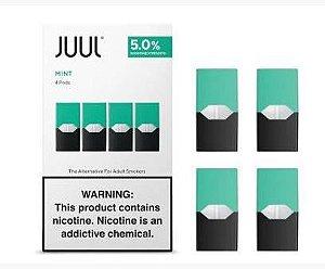Pod Refil Juul - 4 refil  - Mint - 5%