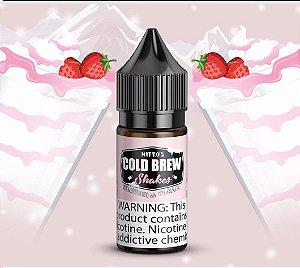 Líquido Nicotine Salt - Nitros Cold Brew - Shakes - Strawberi & Cream - 30ml
