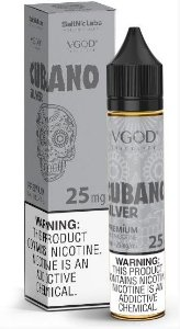 Líquido Cubano Silver - SaltNic / Salt Nicotine - VGOD SaltNic - 30ml
