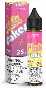 Líquido Pink Cakes - SaltNic / Salt Nicotine - VGOD SaltNic - 30ml