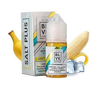 Líquido Salt Nicotine - BLVK Salt Plus - Banana Ice - Nic Salt - 30ml