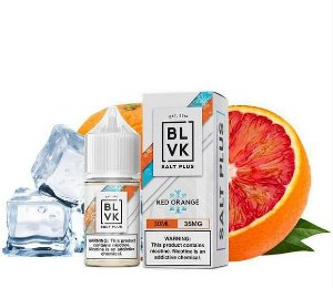 Líquido Salt Nicotine - BLVK Salt Plus - Red Orange Ice - Nic Salt - 30ml