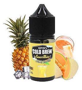 Líquido Salt Nicotine - Nitro's Cold Brew - Smoothies - Pineapple Melon Swirl - 30ml