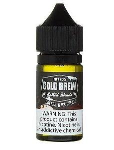 Líquido Salt Nicotine - Nitro's Cold Brew - Salted Blends - Coffe & Ice Cream - 30ml