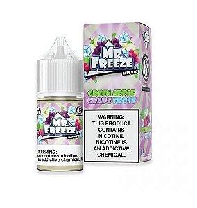 Líquido Salt Nicotine - Green Apple Grape Frost - MR. Freeze - 30ml