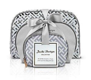 kit necessaire com 3 peças coleção Diamante - Jacki Design