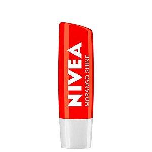 Protetor Labial Nivea Shine - Morango Shine - 4,8g