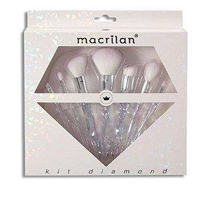 Kit Diamond com 7 Pincéis - Macrilan
