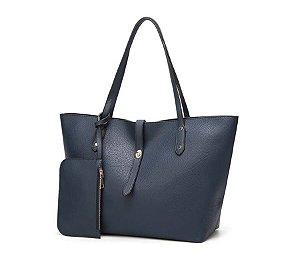 Bolsa Sacola Ombro Grande Beli Azul Escuro