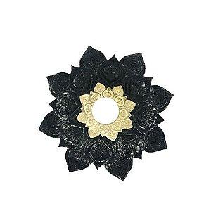 Prato Flowers - Preto e Dourado