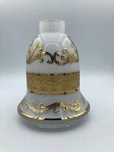 Vaso Pequeno Branco e Dourado